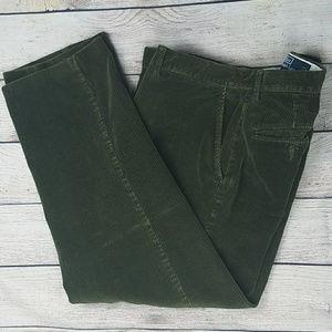 Green Polo Ralph Lauren Corduroys 33x30